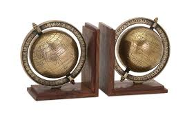 buy classy beth kushnick globe bookends set of 2 at