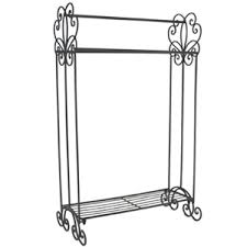 ornate cream towel rail shabby chic free standing country gifts