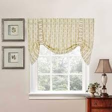 cynthia floral stripe print tie up valance ellis curtain