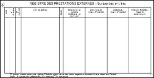 bureau des entr馥s registre des prestations externe bureau des entrées
