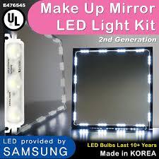 Led Bulbs For Bathroom Vanity Amazon Com Crystal Vision Make Up Mirror Led Light Kit Provided