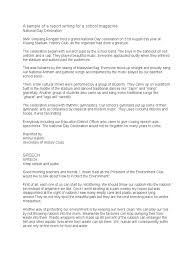 Business Travel Report Template A Sample Of A Report Writing For A School Magazine Recycling