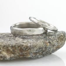 palladium wedding ring simple hammered wedding rings in palladium 950 made to order