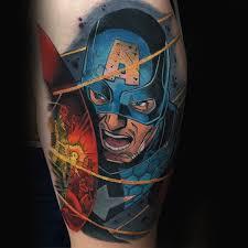 70 captain america tattoo designs for men superhero ink ideas
