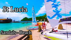st lucia island sandals resort beach walk 2017 4k youtube