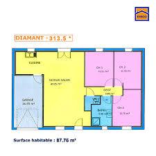 plan de maison de plain pied avec 3 chambres plan de maison individuelle plain pied
