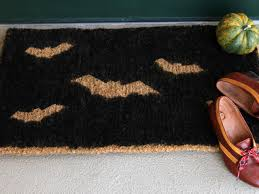 how to make a stenciled halloween doormat how tos diy