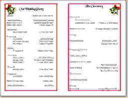 sle wedding program template christmas program templates endo re enhance dental co