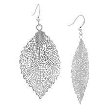 earring drop leaf drop earring silver target