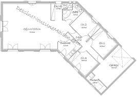 plan maison en l plain pied 3 chambres plan de maison traditionnelle gratuit plan maison plain pied 3 4