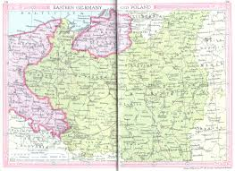 Germany Map Europe by Poland U0026 Eastern Germany Map 1935 Philatelic Database
