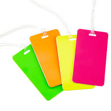 Business Card Luggage Tags Laminated Luggage Tags The Container Store