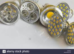 gu10 led bulbs with different beam guidelines and cooling stock