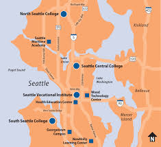 Seattle Area Code Map by Our Locations Our District U2022 Seattle Colleges