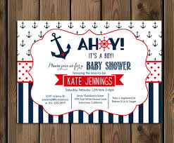 it s a boy baby shower ideas nautical baby shower invitation ahoy its a boy navy and