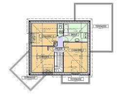 plan maison etage 3 chambres exemple plan maison contemporaine n 1 maison contemporaine