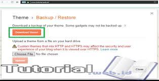 blogger atau blogspot cara mudah backup template blogger atau blogspot bagi pemula