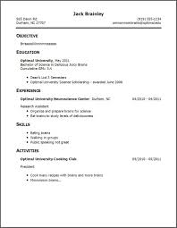 Resume Examples With No Work Experience Resume Writing For High Students Maker