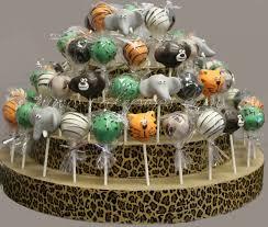jungle theme baby shower cake pops zone romande decoration