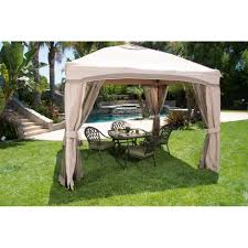 Patio Gazebo Replacement Covers by Portable Patio Gazebo With Single Roof U0026 Netting 10 U0027 X 10
