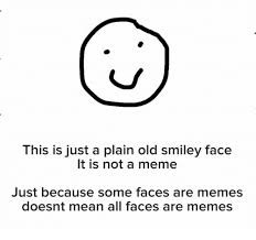 Meme Smiley Face - this is just a plain old smiley face it is not a meme just because