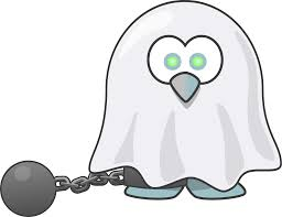 clipart ghost of a penguin
