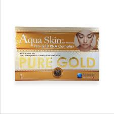 aqua skin egf gold skin egf whitening pro q10 rna complex gold 24 vials complete set