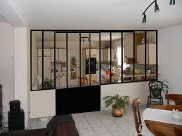 porte cuisine vitr cloison vitr e cuisine separation salon vitree vitre porte