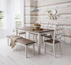 Table And  Chairs And Bench Canterbury Dining Table In - Dining room chairs and benches