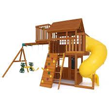 amazon com kids outdoor adventure clubhouse with twist n u0027 ride