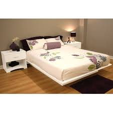 Floating Bed Frames White Wooden Floating Bed Frame With No Headboard Completed By