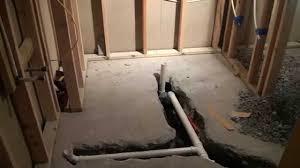 staggering diy basement bathroom shower in along foundation wall