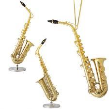 decorative miniature gold plated alto saxophone