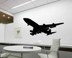 aviation decor home boeing 747 heavy jet vinyl wall decal office wall decor home