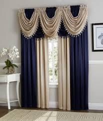 Navy Curtain Navy Beige Hyatt Curtain Set Moshells