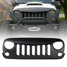 jeep car mahindra tnl matt black color angry bird grill jeep type for mahindra
