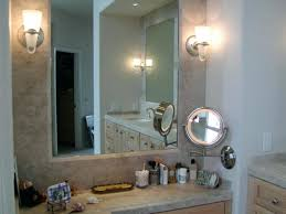 wall mirrors lighted makeup mirror wall mounted brass image of