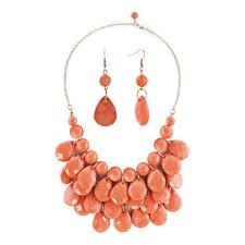 Turquoise Pendant Light Light Orange Semi Precious Turquoise Stone Pendant Bubble Bib
