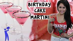 birthday cake drink how to make a birthday cake martini tipsy bartender youtube
