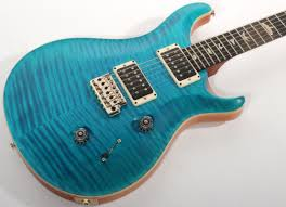 prs custom 24 experience solid rosewood neck peacock blue satin