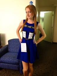 diy tardis dress for halloween took me a while to put together