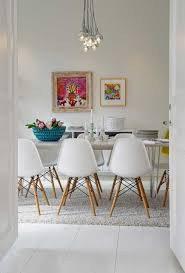 beautiful white themed dining room for small houses design with