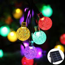 Ball Solar Lights - led crystal ball solar string lights j u0026y