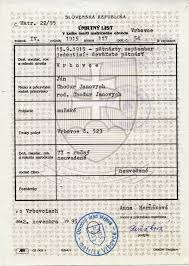 Slovak Birth Records The Slovak Yankee Issuing Authority Not Civil Authority