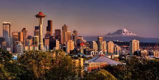 Tiger Gate Ballard Estate Sunset October 2012 Seattle Washington Usa Rp