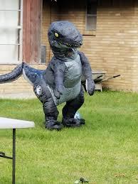 velociraptor costume fernando on just recieved jurassic world