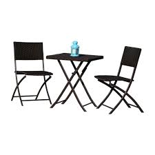 hospitality rattan sapphire 3 pc wicker folding chair set 1372 blk