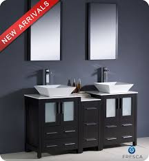 bathroom vanity with side cabinet fresca fvn62 241224es vsl torino 60 double sink modern bathroom