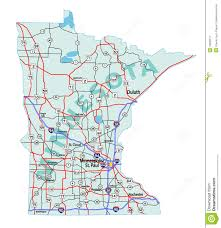 Illinois Interstate Map by Minnesota State Interstate Map Royalty Free Stock Photography