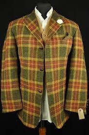 vtg orvis harris tweed tartan check country hacking jacket 44